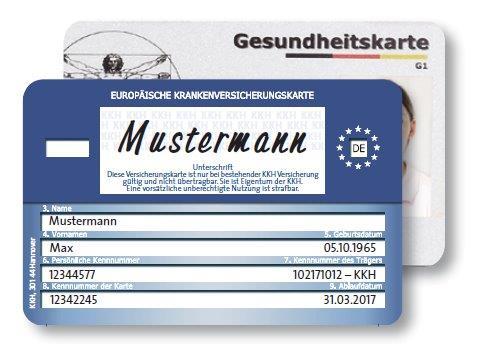 Card de Sanatate Gratuit pentru Germania (KKH)